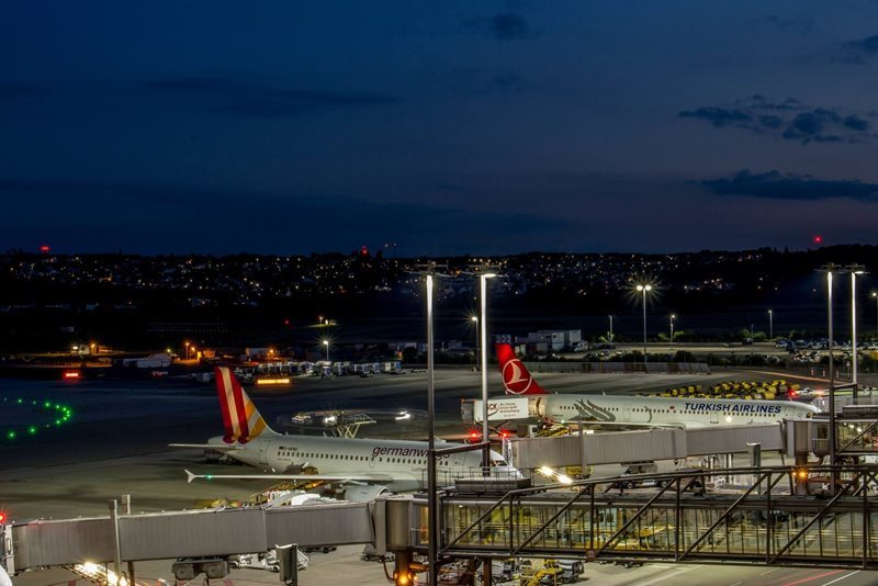 Stuttgart Airport by night