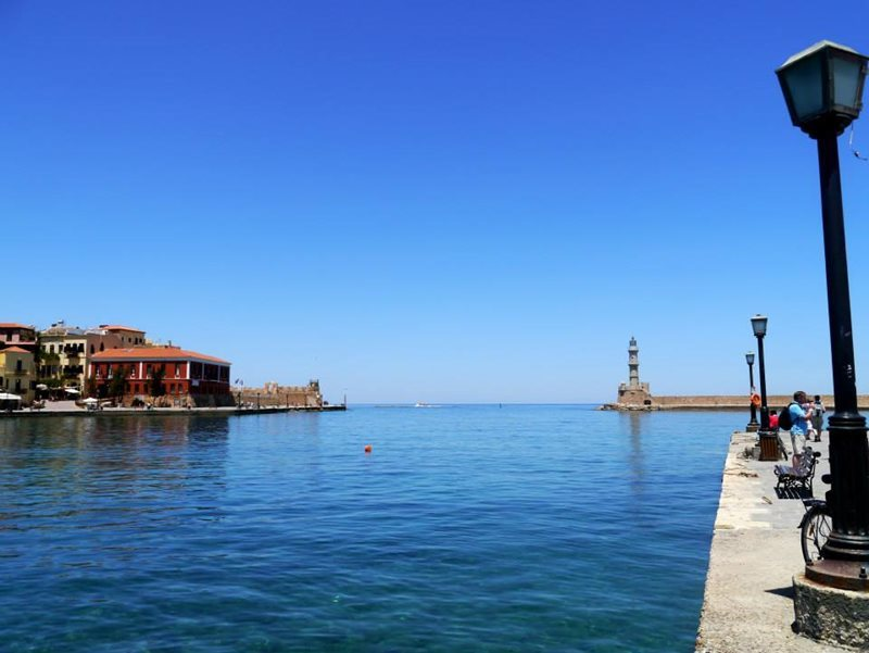 view of chania gulf crete
