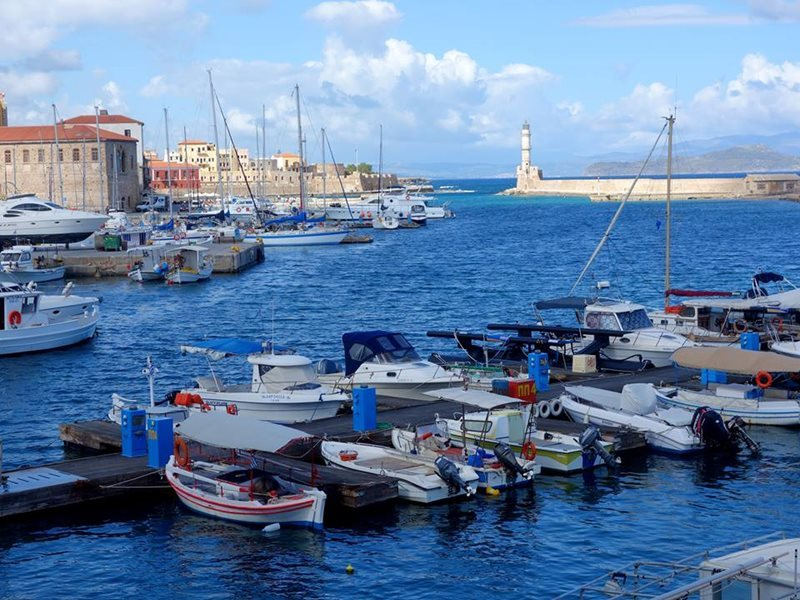 old venetian harbor chania crete