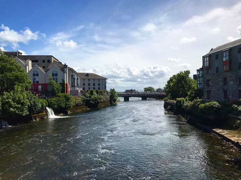 view from obriens bridge galway