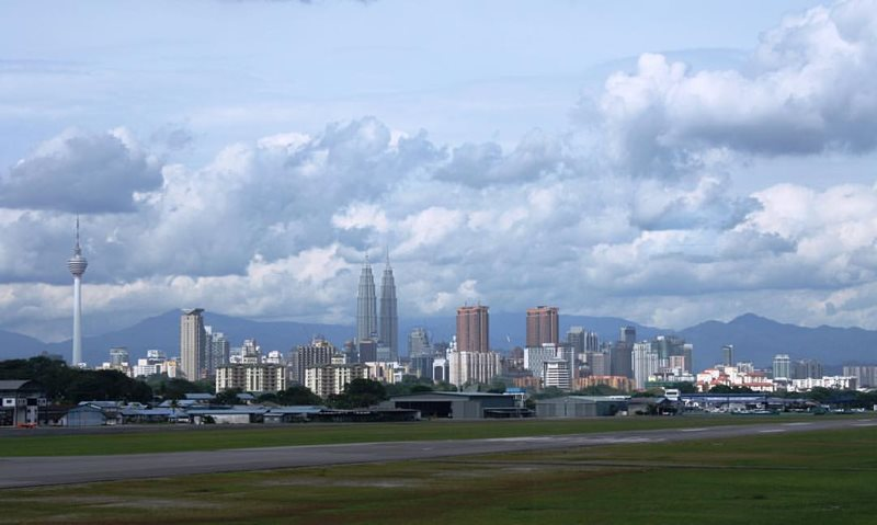 view of kuala lumpur from airport