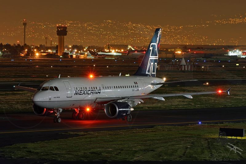 Mexico City Airport at night