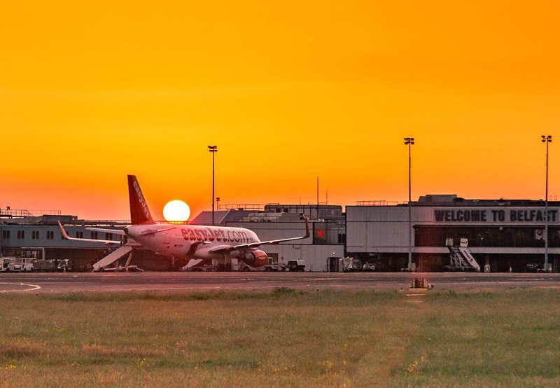 Belfast Airport Sunset