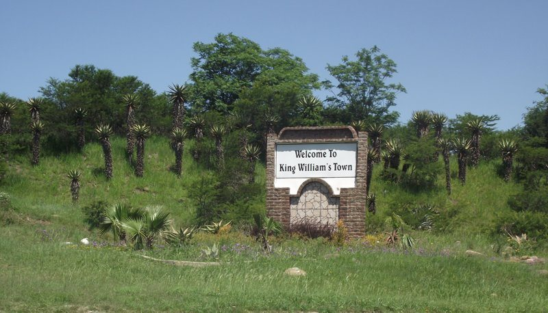 King Williams Town welcome sign