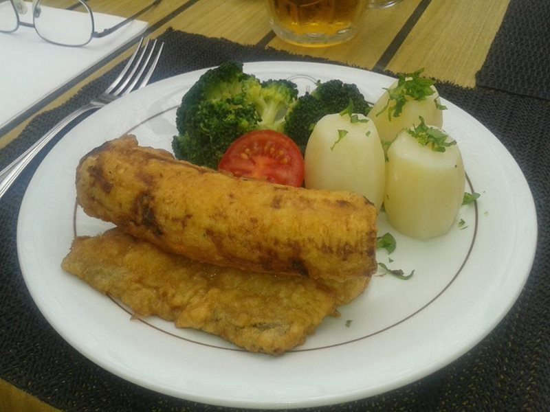 Funchal scabbard fish with bananas