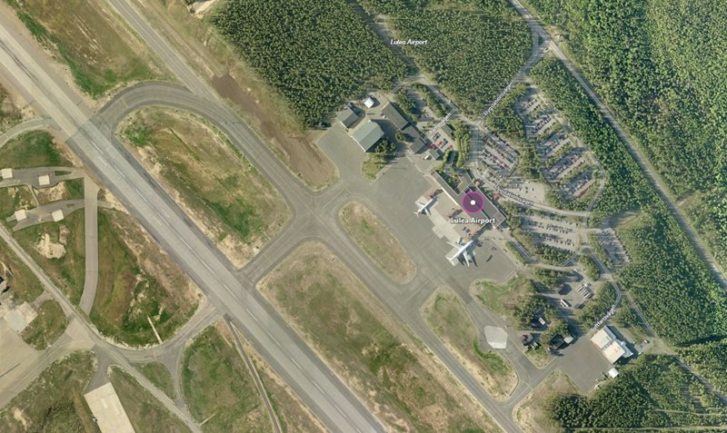 Lulea Airport aerial view