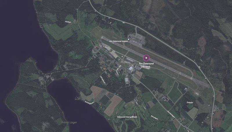 Ostersund Airport aerial view