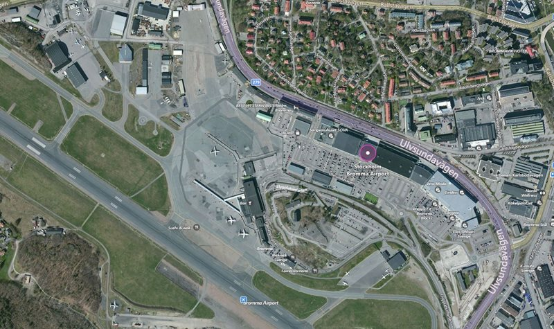 Stockholm Bromma Airport aerial view