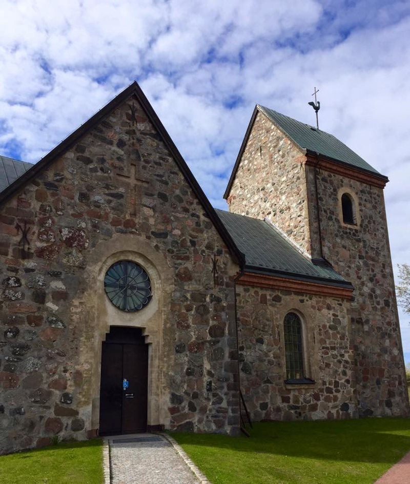 Sweden old church at Vallentuna
