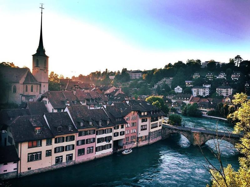 view from bridge in bern