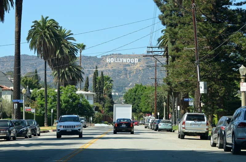Los Angeles California hollywood sign