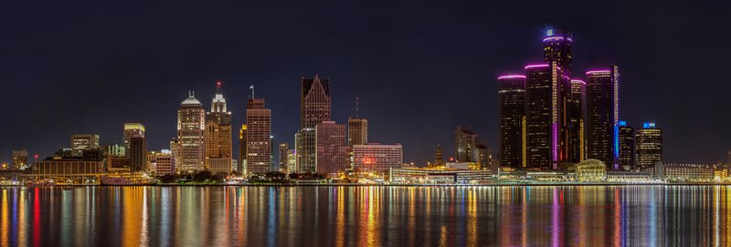 Michigan Detroit skyline