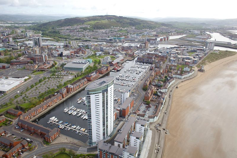 A view of Swansea