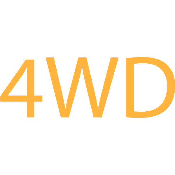 4WD symbol in orange