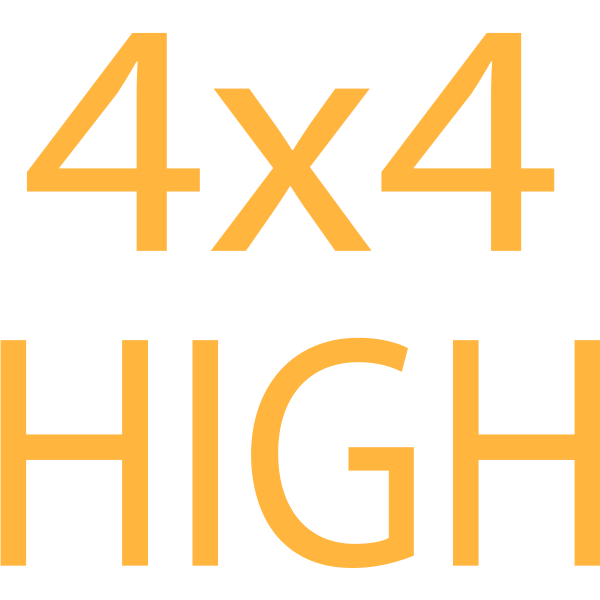 4x4 High symbol in orange