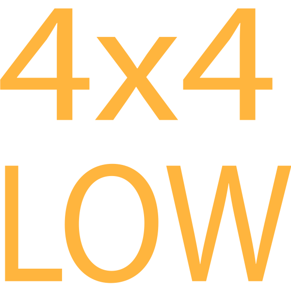 4x4 Low symbol in orange