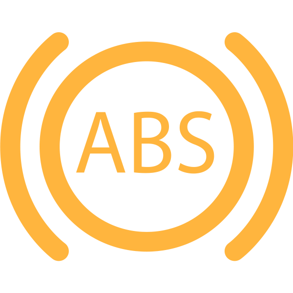 ABS warning light in orange