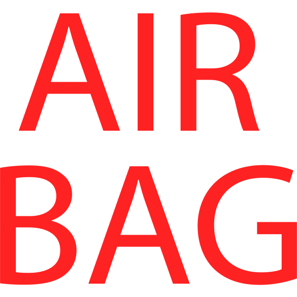 Air bad symbol in red