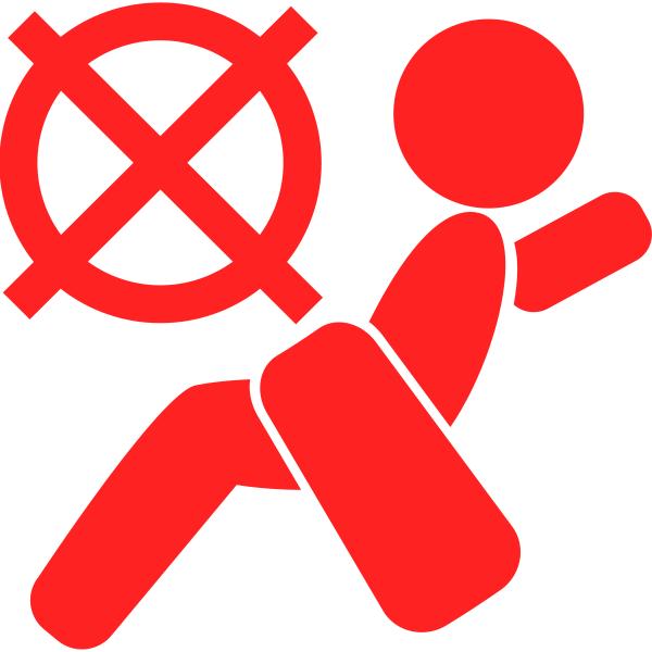 Airbag off symbol in red