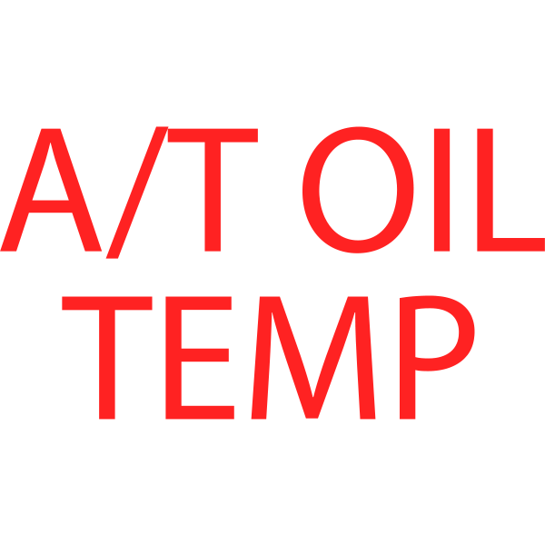 A/T oil temp symbol in red