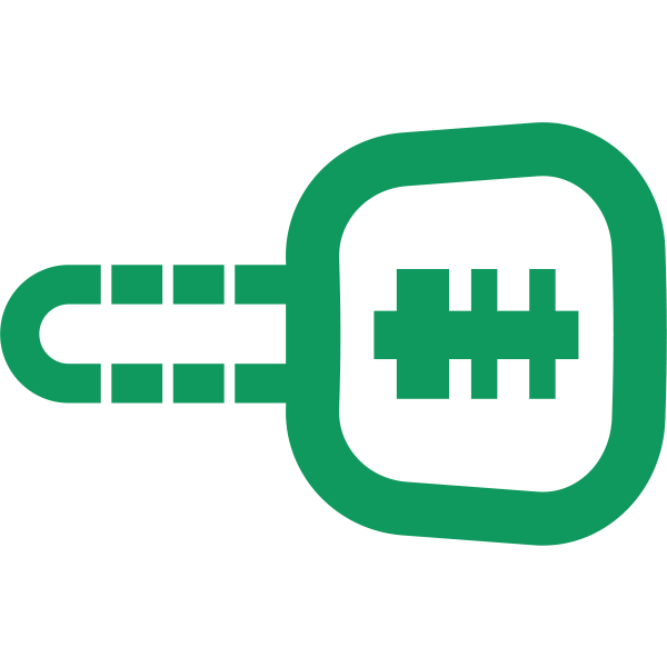 Car Key symbol in green