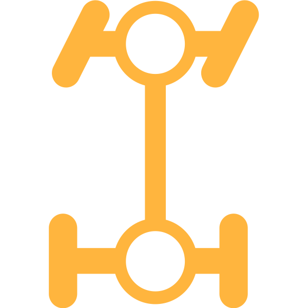 Differential Lock symbol in orange