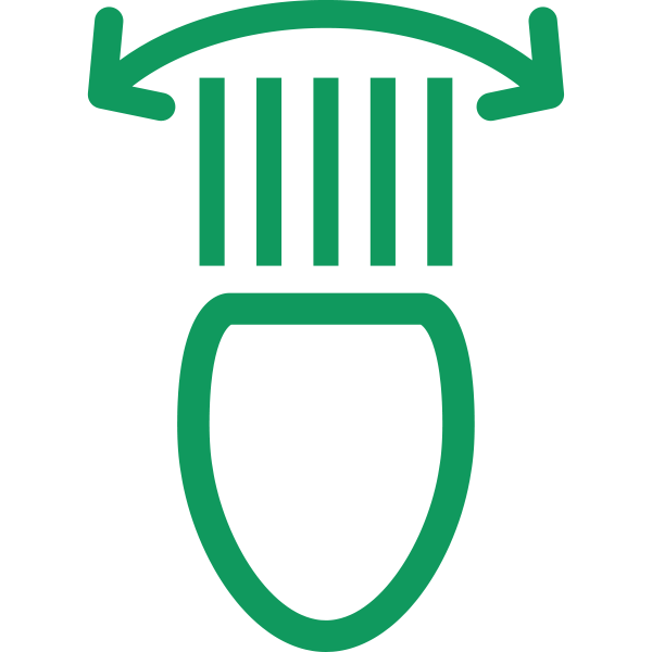 Directional headlight symbol in green