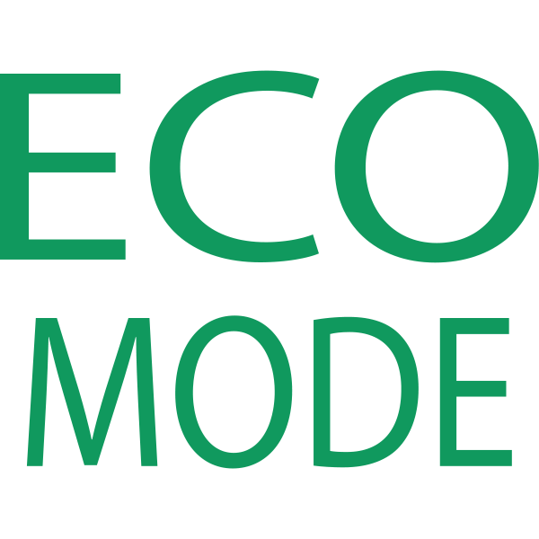 Eco mode symbol in green