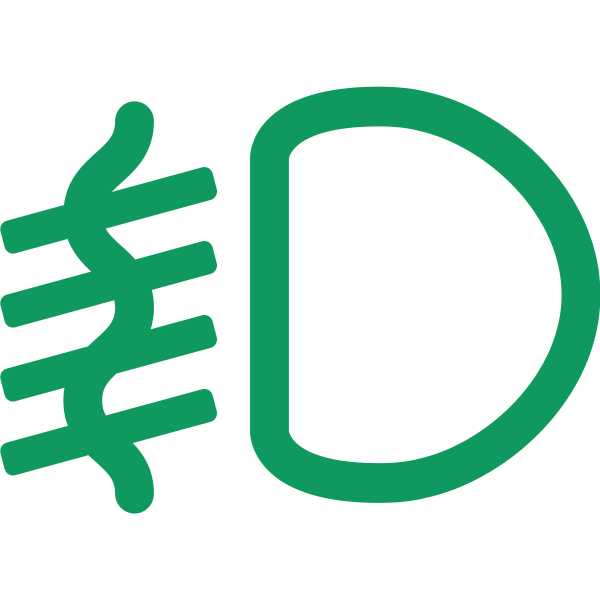 Fog light symbol in green