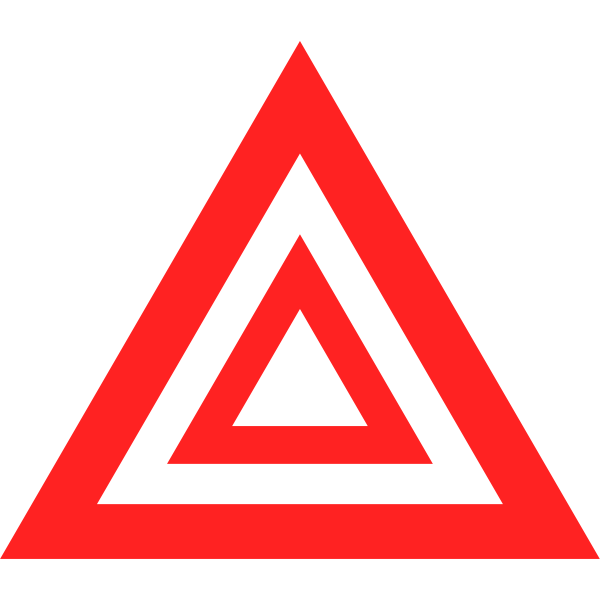 Hazard warning light symbol in red