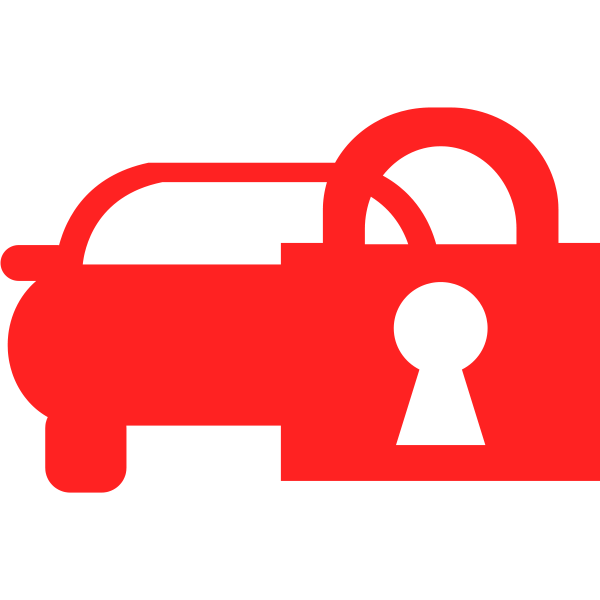 Lock symbol in red