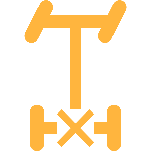 Rear Differential Lock symbol in orange