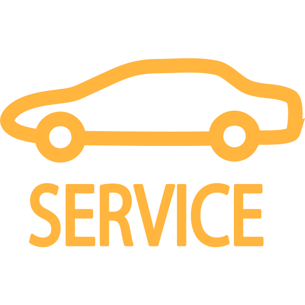 Service indicator symbol in orange