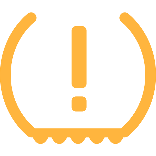 TPMS warning symbol in orange