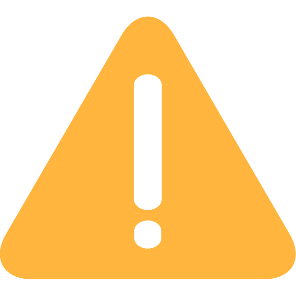 Warning symbol in orange