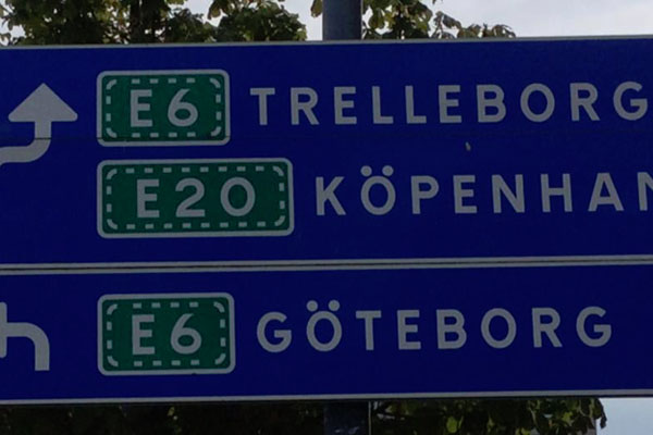 Denmark-Copenhagen-Road-Sign