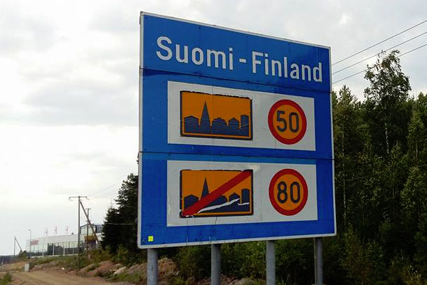 Finland-Motorway-Sign
