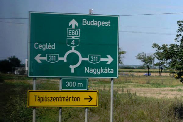 Hungary-Road-Sign