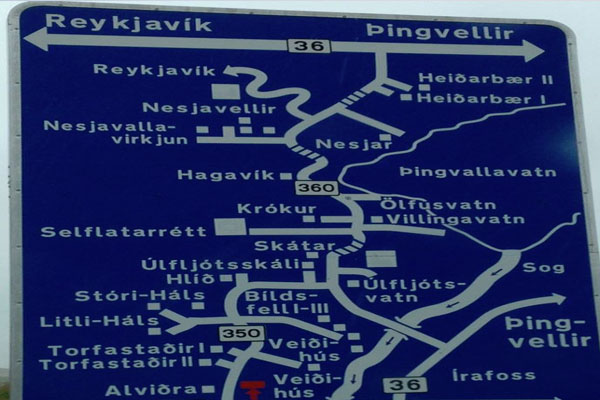Iceland-Motorway-Sign