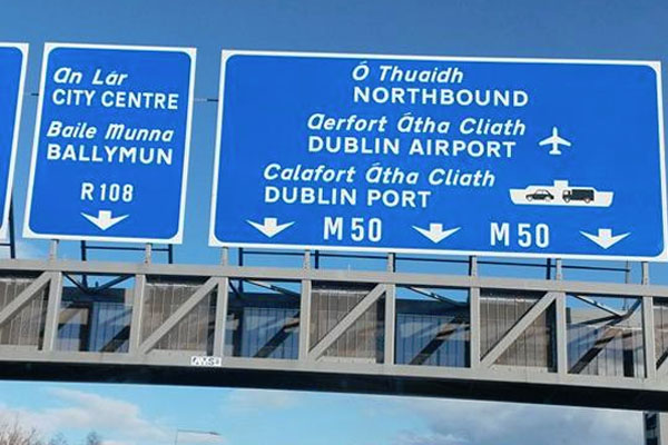 Ireland-Motorway-Sign