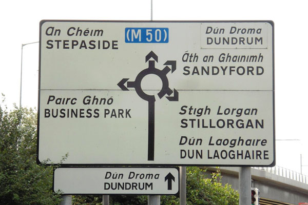 Ireland-Road-Sign