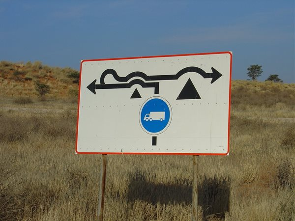 Namibia-road-sign