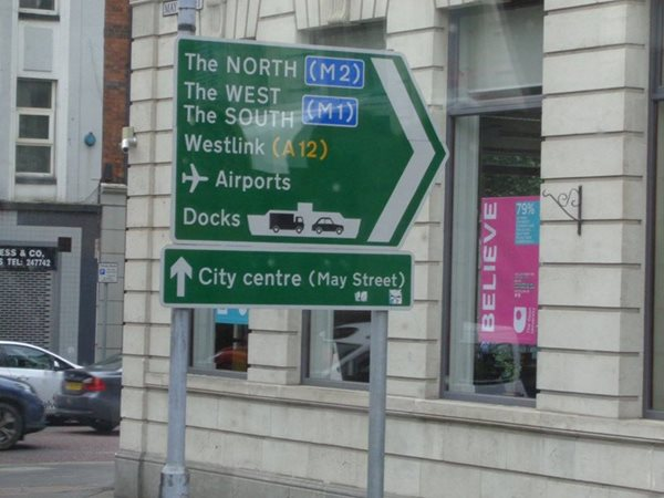 Northern-Ireland-Road-Sign-Belfast