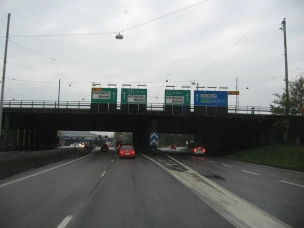Oslo-Norway-Motorway-Sign