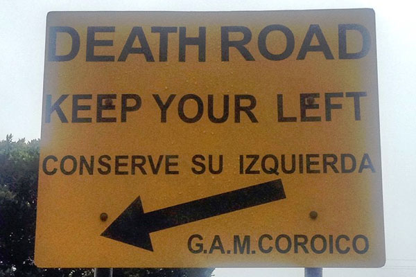 Paraguay-Death-Road-Sign