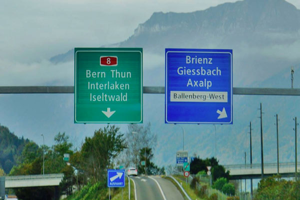 Switzerland-Motorway-Sign