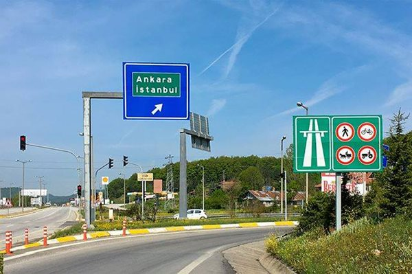 Turkey-Motorway-Sign