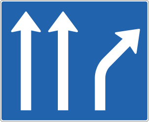 Lane usage and direction overview - Road Sign