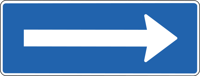 One-way traffic - Road Sign