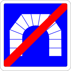 End of the tunnel - Road Sign